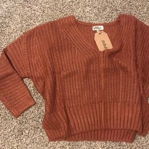 Oversized rust sweater
